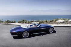 The sensational luxury-class cabriolet from Mercedes-Benz made its presence for the first time at the Pebble Beach Concours d'Elegance. Dubbed Mercedes-Maybach 6 Cabriolet, the car is the n. Mercedes Benz Maybach, New Mercedes, Classic Mercedes, Pebble Beach, Mercedes Concept, Convertible, Jaguar Xk, Cabriolet, Automotive Design