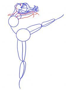 how to draw a ballerina dancer step 4
