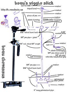 All sizes | DIY Gimbal Glidecam (Steadicam) Outline for Beau's Wiggle Stick | Flickr - Photo Sharing!