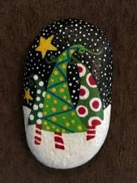 painted christmas rocks - Búsqueda de Google