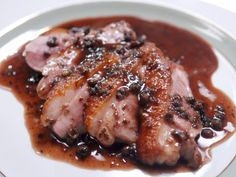 With duck grand marnier breast