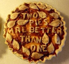 Pie... Not a recipe but I love what she does with her crusts. Check out Pippis flickr page to see the rest!