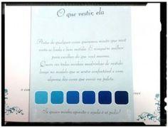 Depois de perguntar p muitas pessoas resolvi pedir minhss madrinhas ir de tons azul e os padrinho de gravata azul ( q presentiamos). Ai esta a paleta de cores e a gravata. Espero q gostem!!!