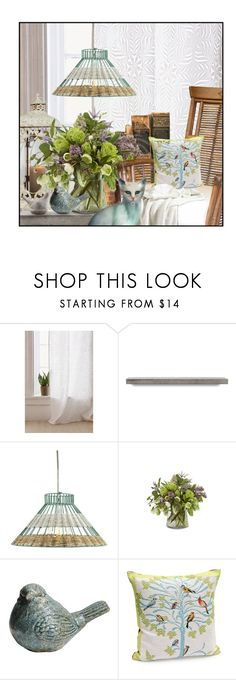 """Spring Vignette"" by queenrachietemplateaddict ❤ liked on Polyvore featuring interior, interiors, interior design, home, home decor, interior decorating, Urban Outfitters, Holly's House, Jayson Home and Home Decorators Collection"