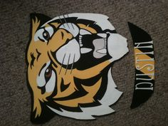 Tigers fans will love these name plaques 33 cm wide au$25 Name Plaques, Tigers, Crafts For Kids, Heart, Kids Arts And Crafts, Kid Crafts, Craft Kids, Big Cats