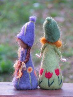 Fieltro primavera la aguja muñeca muñecas waldorf por Made4uByMagic