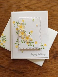 Birthday Cards For Women, Handmade Birthday Cards, Happy Birthday Cards, Greeting Cards Handmade, Stamping Up Cards, Get Well Cards, Paper Cards, Cool Cards, Flower Cards
