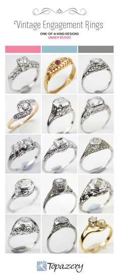 Vintage Engagement Rings on a Budget | Topazery