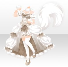 Manga Clothes, Drawing Clothes, Cosplay Outfits, Anime Outfits, Anime Art Fantasy, Pelo Anime, Fantasy Gowns, Chibi Characters, Anime Dress