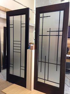 Ideas Bathroom Door Ventilation For 2019 Wooden Glass Door, Glass Front Door, Sliding Glass Door, Frosted Glass Design, Frosted Glass Door, Modern Exterior Doors, Grill Door Design, Door Stickers, Bathroom Doors
