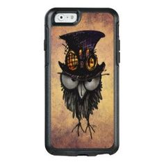 Funny Grumpy Owl in a Steampunk Hat and Goggles OtterBox iPhone 6/6s Case