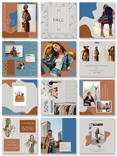 Insta Layout, Instagram Feed Layout, Feeds Instagram, Instagram Grid, Instagram Post Template, Instagram Design, Graphic Design Posters, Graphic Design Inspiration, Presentation Layout