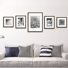 wall collage bedroom hang pictures Darby Home Co Janita 5 Piece Wall Picture Frame Set Cadre Photo Mural, Photo Wall Decor, Photo Frames On Wall, Wall Photos, Wall Decor Frames, Black Frames On Wall, Hallway Wall Decor, Picture Frame Sets, Picture Frame Placement