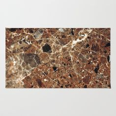 Marble Texture 30 Area & Throw Rug by Robin Curtiss - $28.00