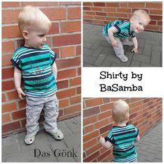 Freebook Shirty von BaSamba - Kinder Shirt 74 - 128 nähen (kostenloses Schnittmuster)