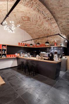 Espresso Embassy  / sporaarchitects brick wall industrial modern style great idea
