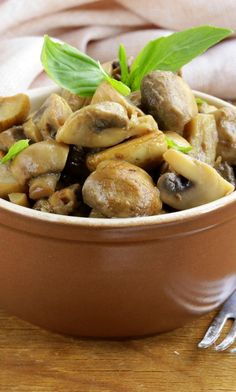 Herbed Mushrooms with White Wine Recipe