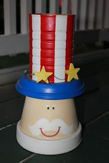 Uncle Sam Craft - Clay Pot and Dish, Can, and Acrylic Paints