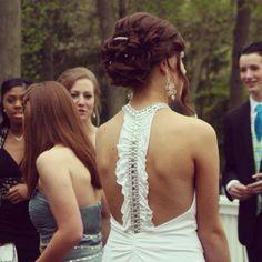 White prom dress back