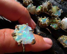 SEMI-ANNUAL SALE Big raw opal ring | Chunky opal ring | Rough opal ring | Opal… #opalsaustralia