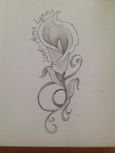Calla Lilly Tattoo Concept 1