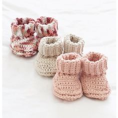 Mary Maxim - Free Knit or Crochet Baby Booties Pattern - Free Patterns - Patterns & Books