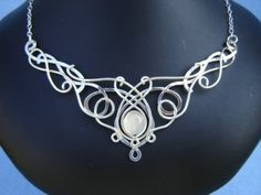 SilverMoon Necklace Wedding Bridal Sterling Celtic by ElnaraNiall, $199.99