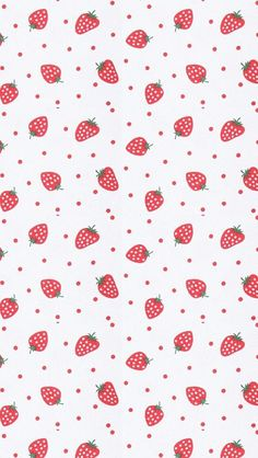 いちご柄 iPhone壁紙 Wallpaper Backgrounds iPhone6/6S and Plus Strawberry Pattern