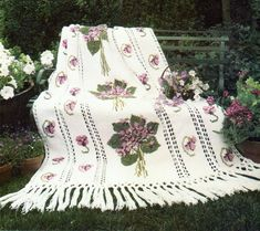 Victorian Violets With Fringe Afghan Crochet Pattern  Cross