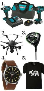 2017 Father's Day Gifts Ideas for your dad or husband. Great ideas whether he is a golfer or a homebody.