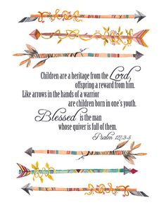 Psalm 127 35  Nursery Printable Artwork boy girl by printyourbliss, $0.75