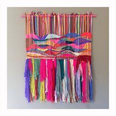 Colgante de pared tejido tejida a mano tapiz tejer fibra arte textil Jujujust hecho a mano Ooak única Casa Decor Decoración vivero