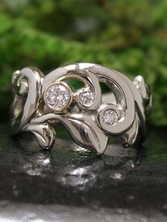 eccentric intriguing in from rings karat lydia floral selections its that ring diamond gorgeous the frames form weave courteille no natural white gold collection mistaking pearl baroque luxury plated paved ruthenium engagement news