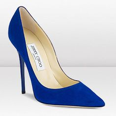 Anouk 120mm Blue Suede Stiletto Pumps Lovely Jimmy Choo Best Price Top quality Casual
