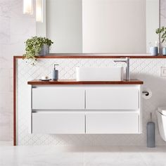 Find Mondella White Rococo Wall Hung Vanity - Cabinet Only at Bunnings Warehouse. Visit your local store for the widest range of bathroom & plumbing products. Wall Hung Vanity, White Vanity Bathroom, Budget Bathroom, Bathroom Renovations, Bathroom Plumbing, Vanity Cabinet, Rococo, White Walls, Double Vanity