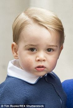 The waiting public were thrilled to catch a rare glimpse of 21-month-old Prince George...