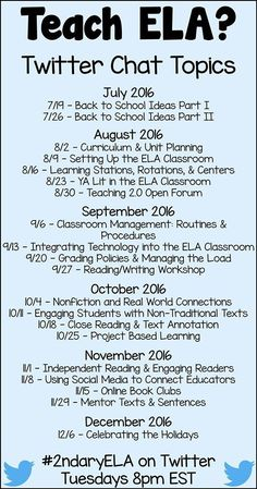 Connect & collaborate with other secondary ELA teachers. Join a growing…