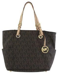 Michael Kors Jet Set E/W Signature Womens Tote MK Logo Handbag   Shoes Deliver