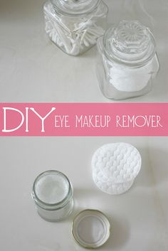 DIY Eye Makeup Remover coconut oil and baby shampoo