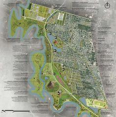 propuesta. Image Cortesia de Equipo Primer Lugar Landscape Architecture, City Photo, Park, Presentation Boards, Santa Fe, Collages, Graphics, Pageants, Urban Design