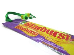 Starburst Recycled / Upcycled Candy Wrapper Bookmark  by justByou