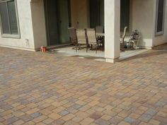 Extend patio with pavers