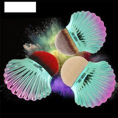 1pcs Big shell powder brush #makeup #makeupbrush #bella #cutie #mermaid