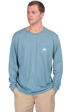 Field Companion Long Sleeve - Silver Blue Front