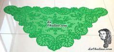 Preciosa Chalina Italiana Color Verde Esmeralda