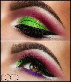 QC Makeup Academy - Google+  #Bold and #bright eyeshadow