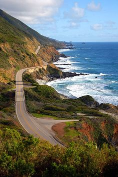 Pacific Coast Highway in CA...my mind is on Cali! So excited for a much needed vacation to Southern Cali!