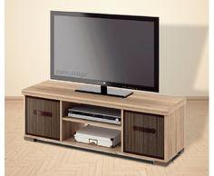 Mesa de TV 120 Talos color roble Long Tv Stand, Rak Tv, Television Cabinet, Tv Rack, Muebles Living, Furniture Projects, Decoration, Tv Units, Living Room