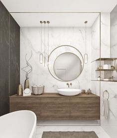 Perfect wooden bathroom mirror ideas only in dandj home design Black Marble Bathroom, Wooden Bathroom, Marble Bathrooms, Bathroom Cabinets, Bathroom Mirrors, Bathroom Furniture, Luxury Bathrooms, Washroom, White Marble