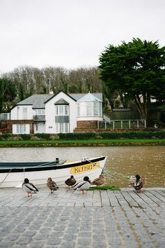 Bude Canal, north Cornwall, UK by Suzi Marshall.- house looks lovely by the water